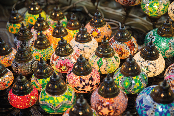 Traditional eastern lamps