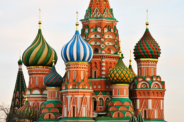 Cupola of St. Basil's Cathedral in Moscow