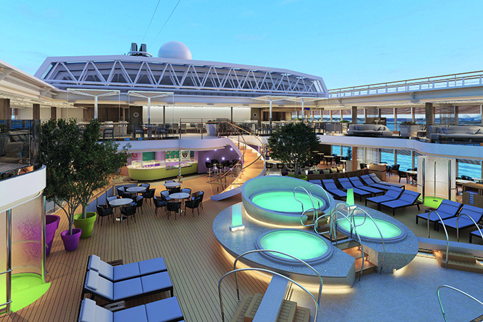 MS Koningsdam's stunning pool deck