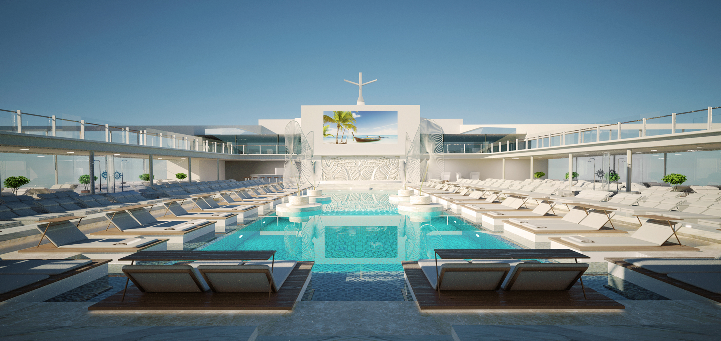 The main pool, MSC Meraviglia