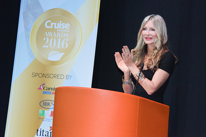 Caprice Bourret at the Cruise Awards 2016 © Steve Dunlop