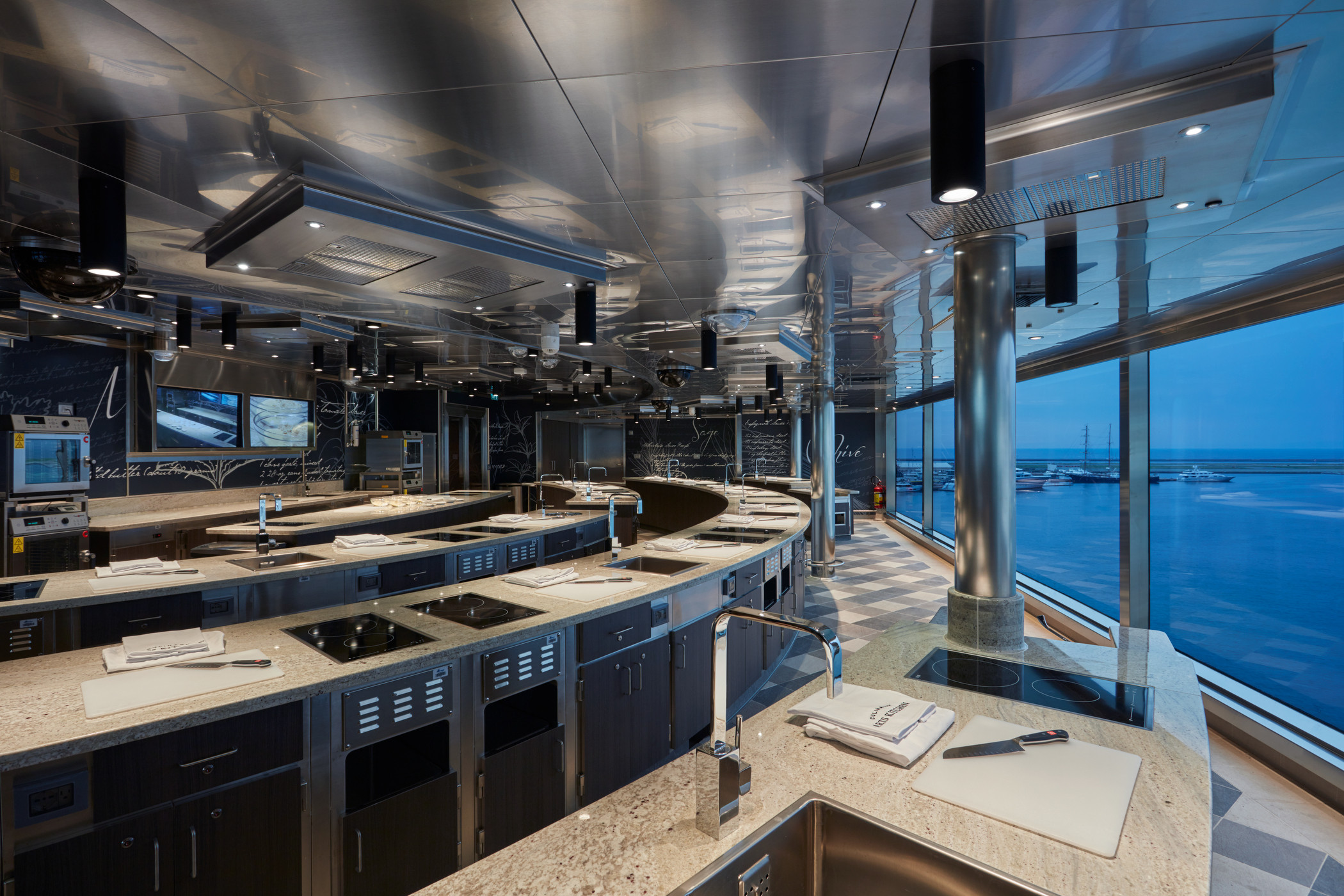 Regent Seven Seas' Culinary Arts Kitchen
