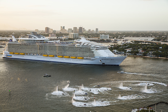 Harmony of the Seas departed on its maiden voyage