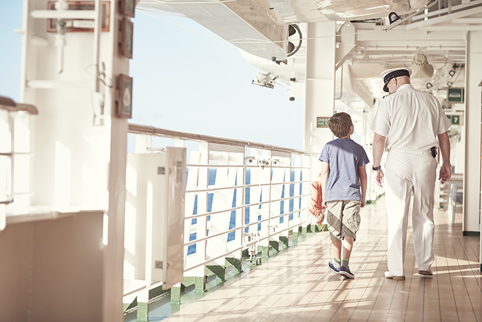 Walking on deck © P&O Cruises