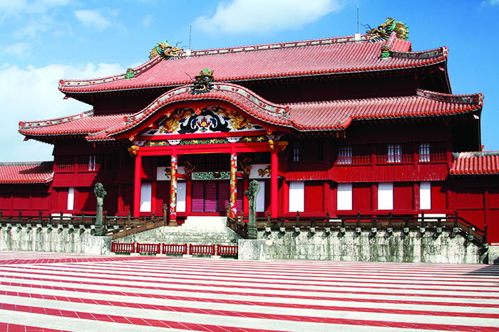 Courtyard view of Shuri Castle, Okinawa © Shutterstock