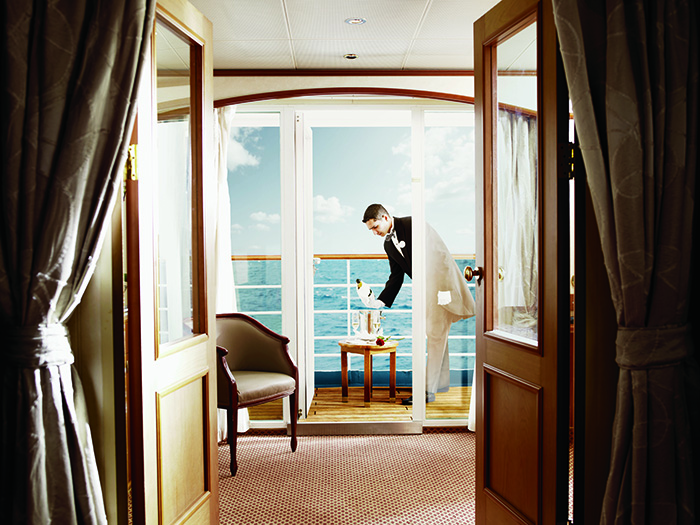 Luxury service - first-time cruiser © Silversea Cruises