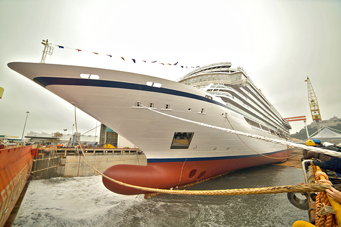 Viking Sun float out at Fincantieri's Ancona shipyard © Viking Cruises