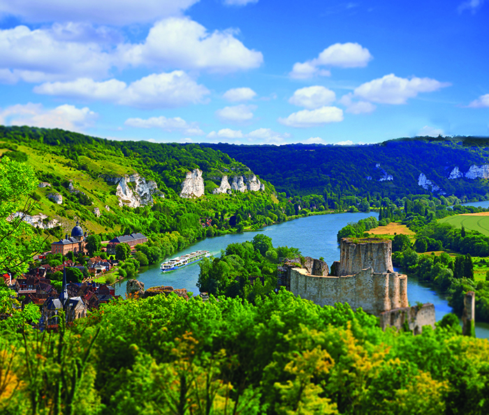 Take in the beautiful Gaillard Castle in Normandy, France, on a river cruise with Avalon Waterways