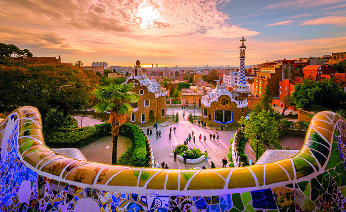 Park Güell, Barcelona, one of the ports of call on Norwegian Cruise Line's Western Mediterranean itinerary © iStock