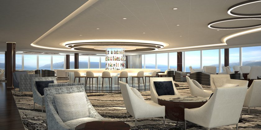 Norwegian Bliss Observation Lounge Bar © Norwegian Cruise Line
