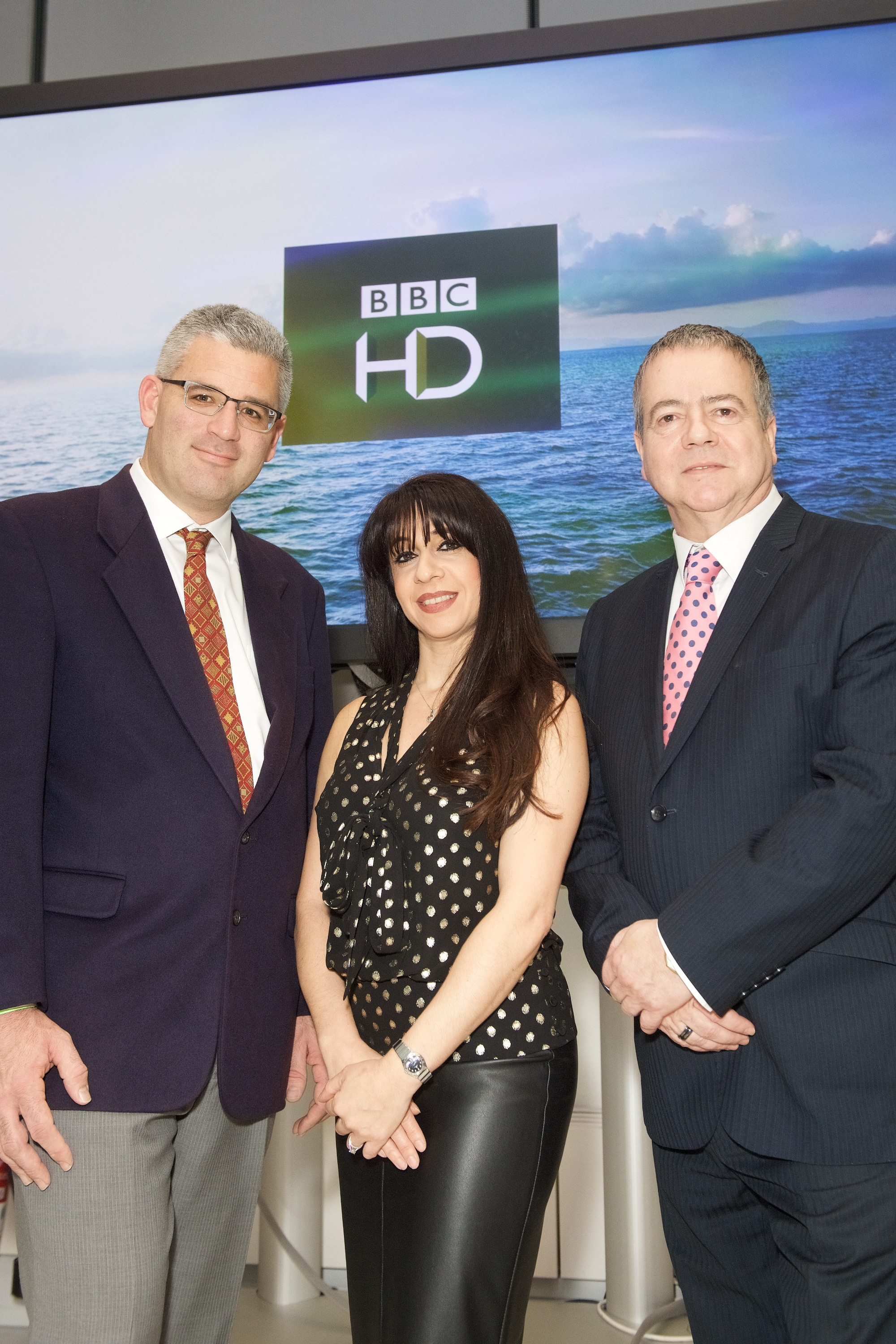 L-R Travis Peterson (VP Product Global Eagle Entertainment), Zina Neophytou (VP Out of Home BBC Worldwide) and Graham Douglas (Media & Communications Manager Carnival UK)