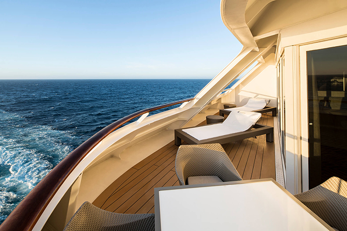 A Club Ocean Suite Balcony with Azamara Club Cruises