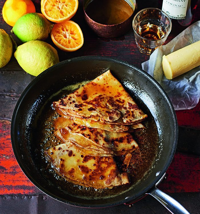 James Martin's crepe suzette recipe for Pancake Day © Peter Cassidy