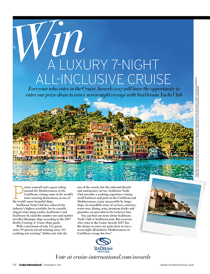 Win A Luxury Cruise With SeaDream Yacht Club, Cruise