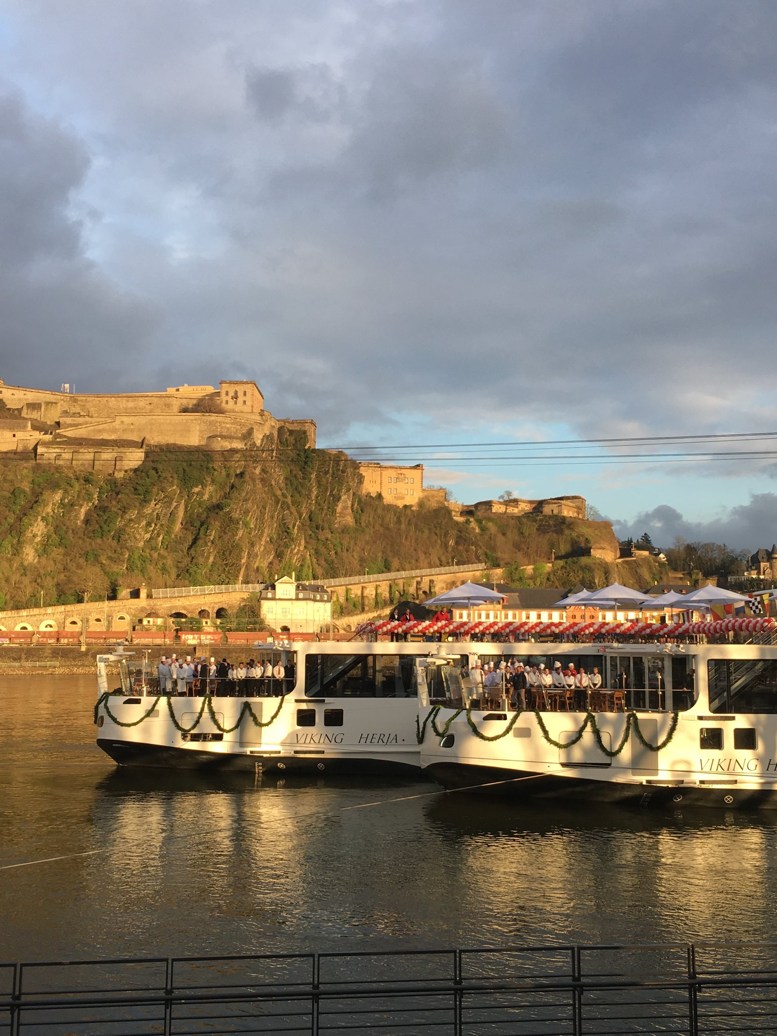 Viking River Cruises' new longships Viking Herja and Viking Hild in Koblenz, Germany