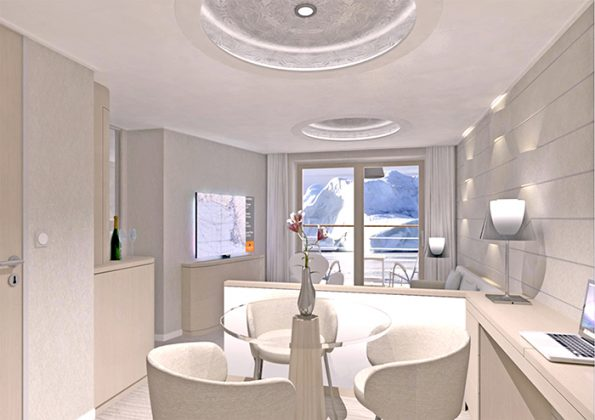 An artist's impression of the junior suite © Hapag-Lloyd Cruises