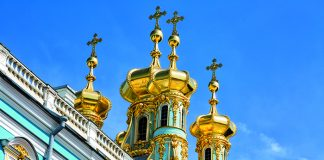 Golden domes of the palace church at The Catherine Palace, St Petersburg © iStock