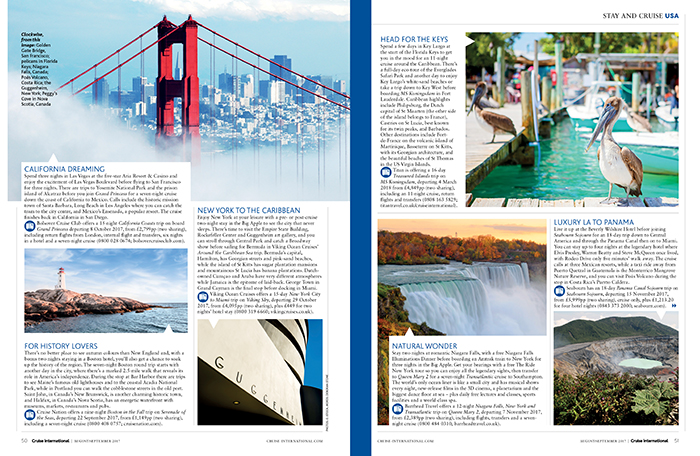 Cruise International August/September 2017 - Stay-and-cruise USA