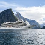 Viking Star cruises through the fjords near Flam, Norway