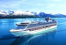 Princess Cruises' Sapphire Princess in College Fjord Alaska