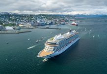 Viking Ocean Cruises Viking Sky ship christening in Tromso, Norway