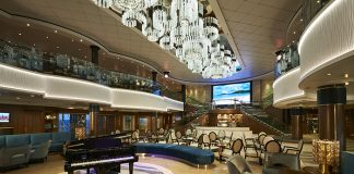 The Atrium on board Norwegian Cruise Line's refurbished Norwegian Jade