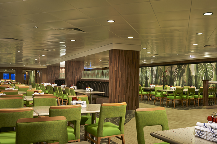The Garden Café on board Norwegian Cruise Line's refurbished Norwegian Jade