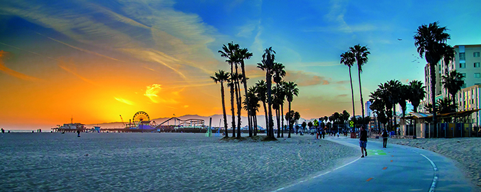 Sunset over Venice Beach in Los Angeles © Getty Images
