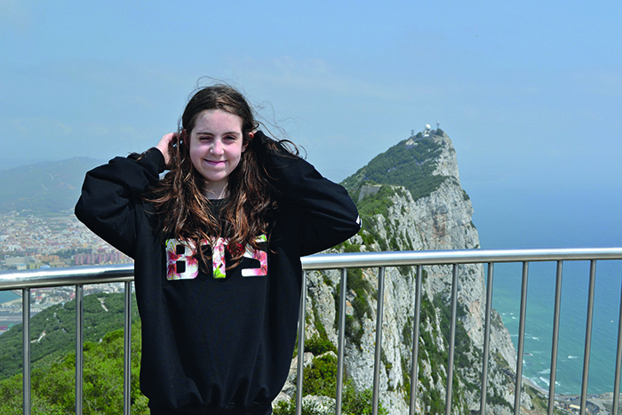 Rosie's daughter Hannah in Gibraltar