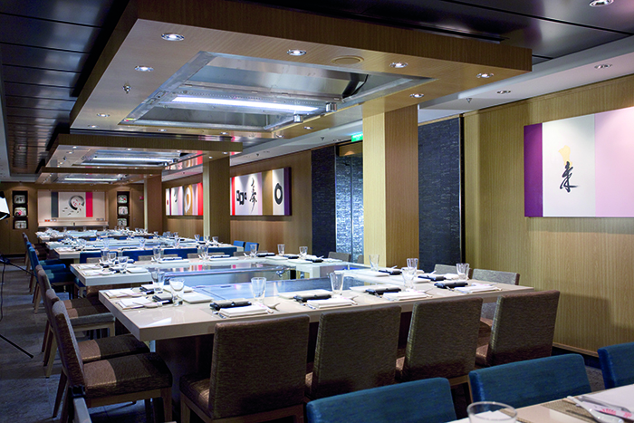 Norwegian Epic Teppanyaki restaurant