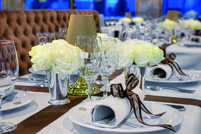 Dine well on board S.S. Maria Theresa