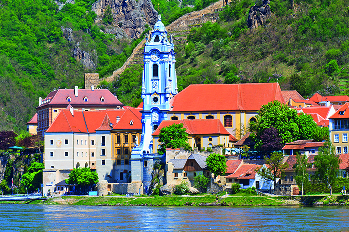 Durnstein Baroque Church along the Danube, Wachau Valley © iStock