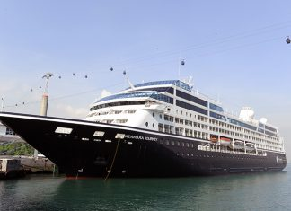 Azamara Journey docked in Singapore