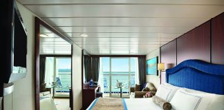 A Concierge Level Verandah stateroom on board Oceania Cruises