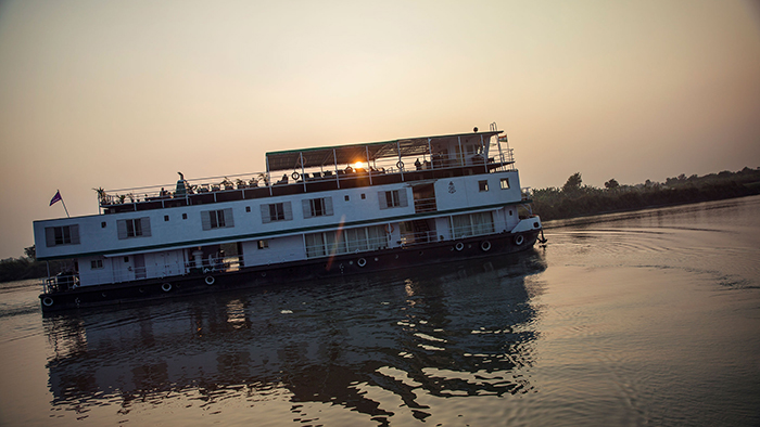 G Adventures' Varuna on the Ganges river in India