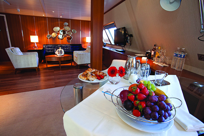 An indulgent welcome on board Saga Pearl II