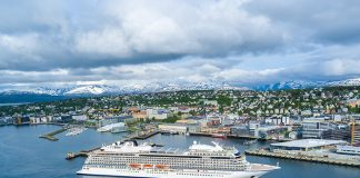 Viking's latest ship Viking Sky in Tromsø, Norway