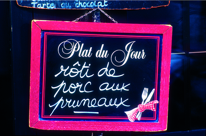 A Parisian café sign