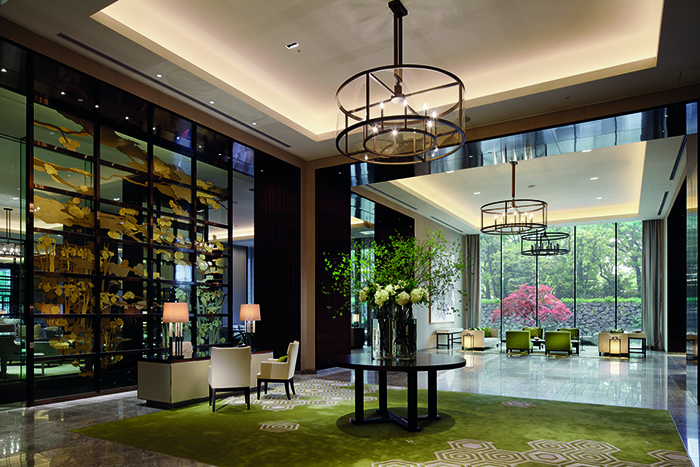 The main lobby in the Palace Hotel Tokyo