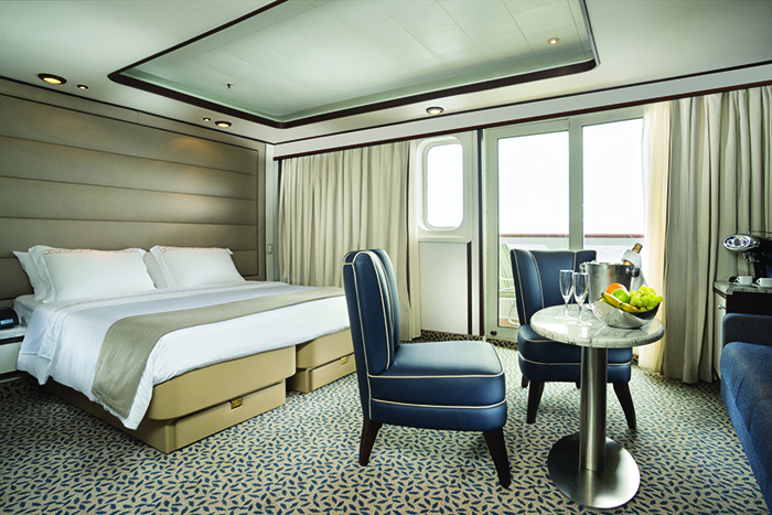 A Silver Suite on board Silversea's Silver Galapagos