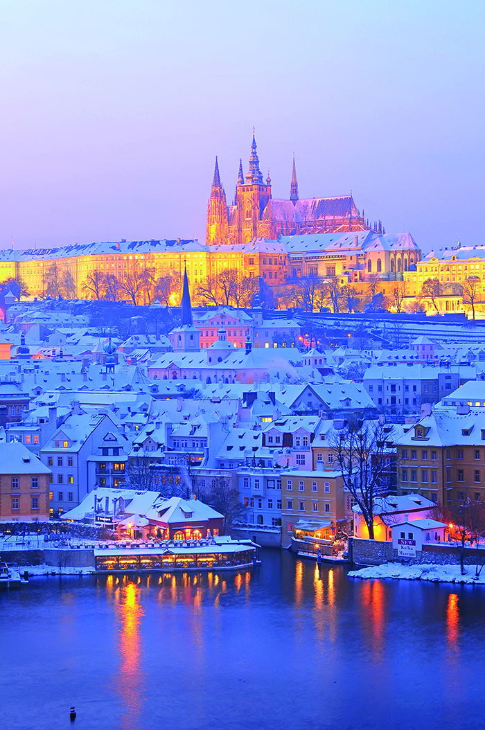 A snow-covered Prague, Czech Republic © iStock