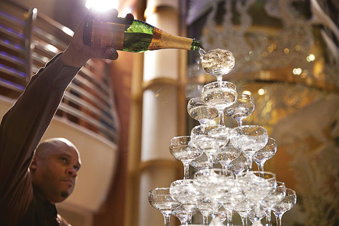 Champagne Waterfall In The Atrium