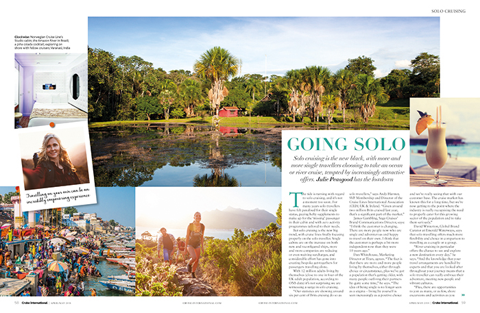 Solo cruising - Cruise International April/May 2018