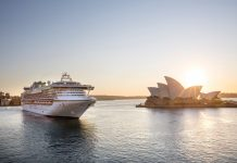 Princess Cruises' Diamond Princess as it arrives in Sydney Harbour