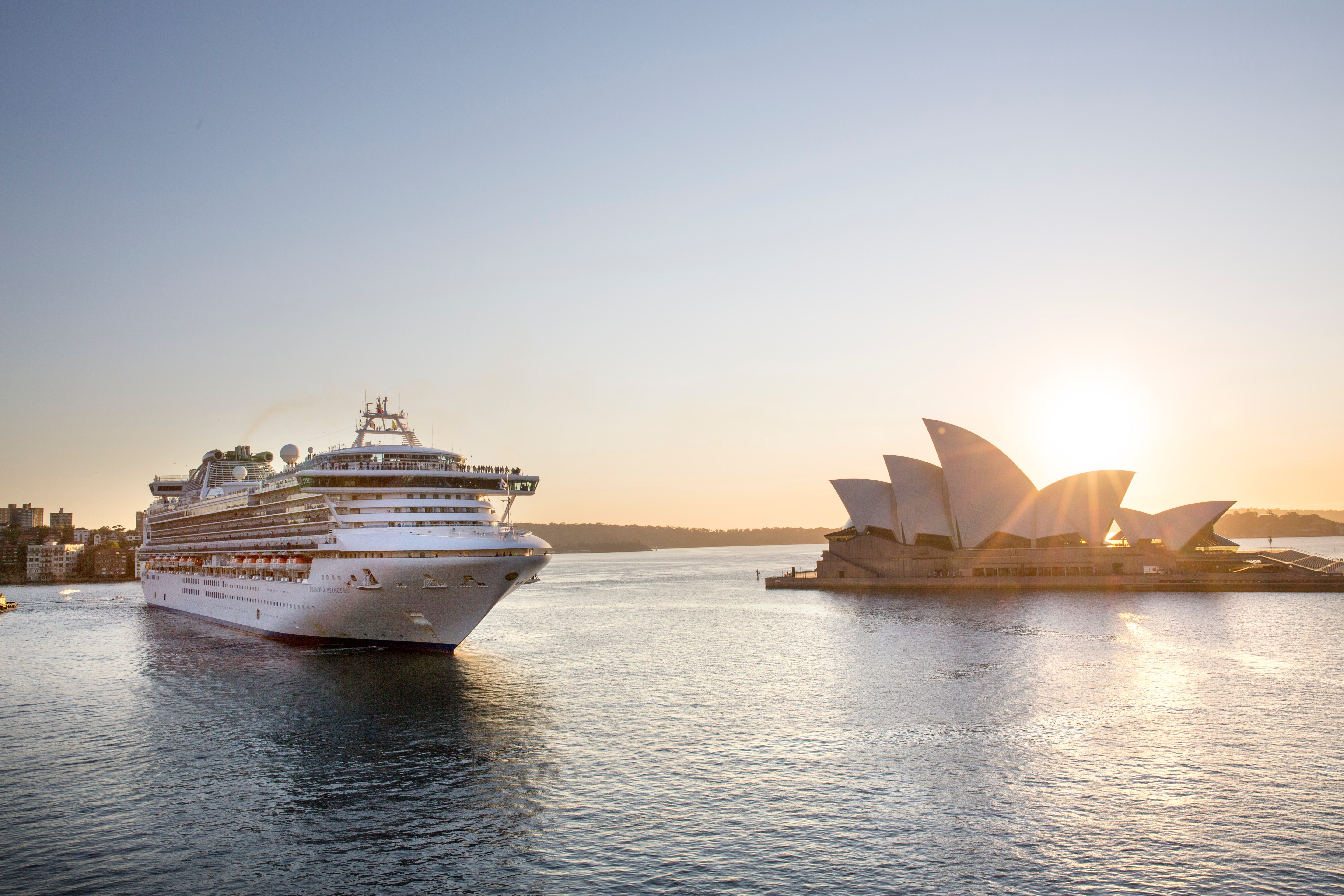 Princess Cruises' Diamond Princess as it arrives in Sydney Harbour, Australia