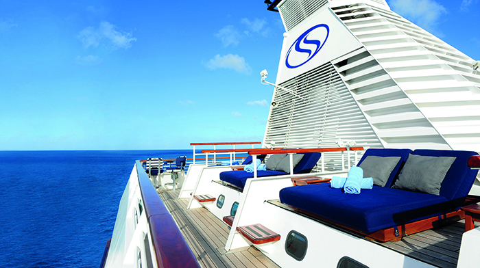 The Balinese Dream Beds on board SeaDream I