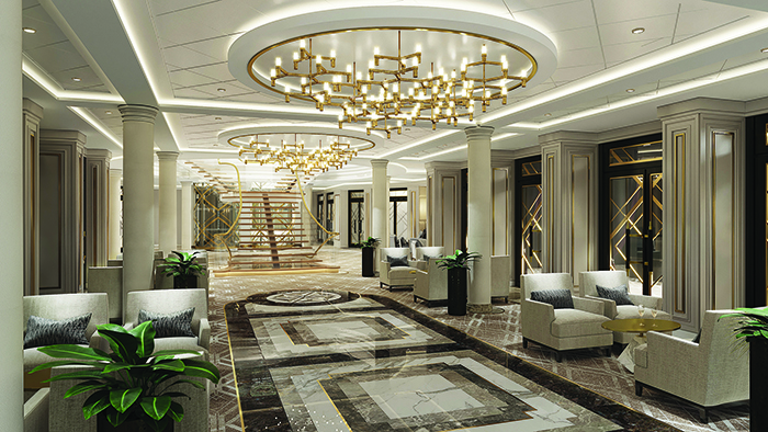 The Atrium on board Seven Seas Splendor © Regent Seven Seas Cruises