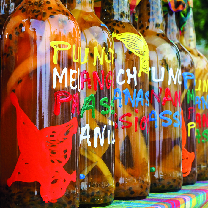 Hand-painted bottles of rum, Guadeloupe © iStock