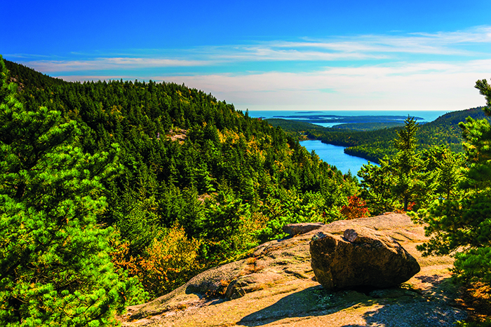 The view from North Bubble in Acadia National Park © iStock
