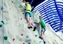 The rock climbing wall on Norwegian Epic © Norwegian Cruise Line